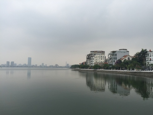 A view of downtown Hanoi from the Westlake District.