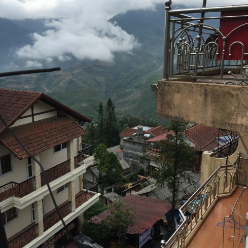 Sapa, from our hotel.