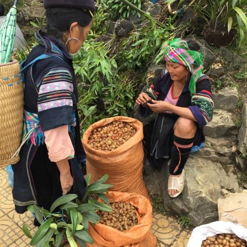 Hmong women at the Sapa market.