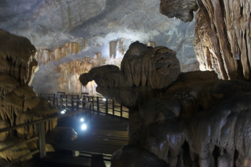 Inside Paradise Cave.